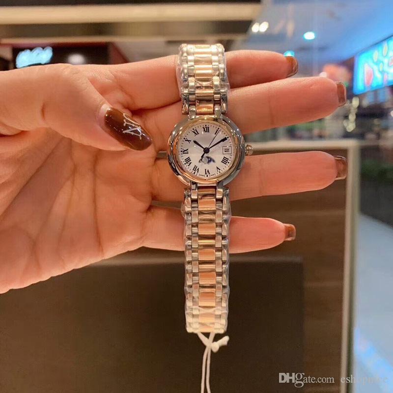 Haute Femmes Montre Vente Diamond Watch Lune 2020 Qualité Fashion Filles Pour Dames Montres Cadeau Résistant à l'eau Quartz Femme HOT HOT PHASE QVBA