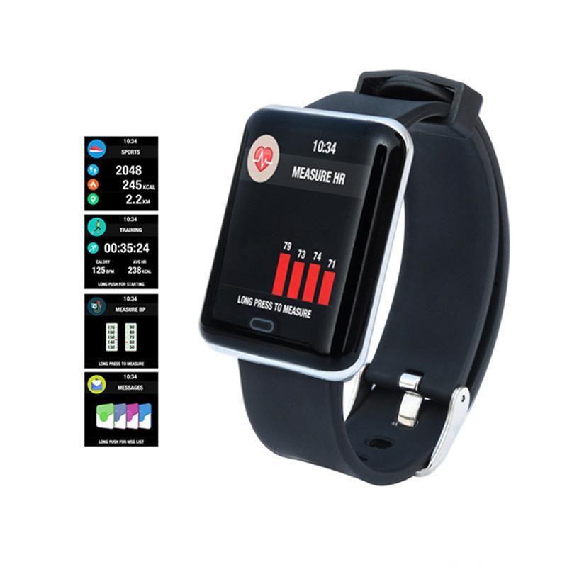 K66 Smart Watch IP68 Waterproof Color Screen Heart Rate Blood Pressure Monitor Replaceable Bracelet For Android IOS
