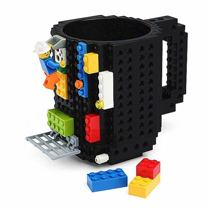 350ml Leche creativo taza taza creativa Construir-en el ladrillo Taza tazas para beber agua Holder Building Blocks Copa nuevo diseño