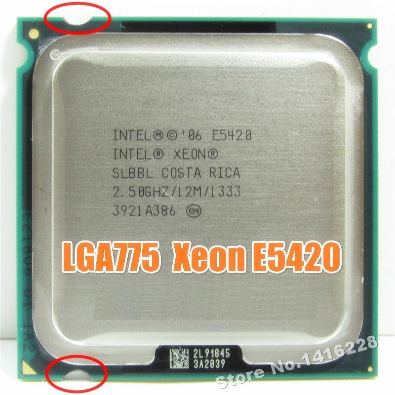 Günstige CPUs arbeitet auf LGA 775 Motherboard Xeon E5420 Prozessor mit 2,5 GHz 12M 1333Mhz der Nähe von Core 2 Quad Q6600 CPU