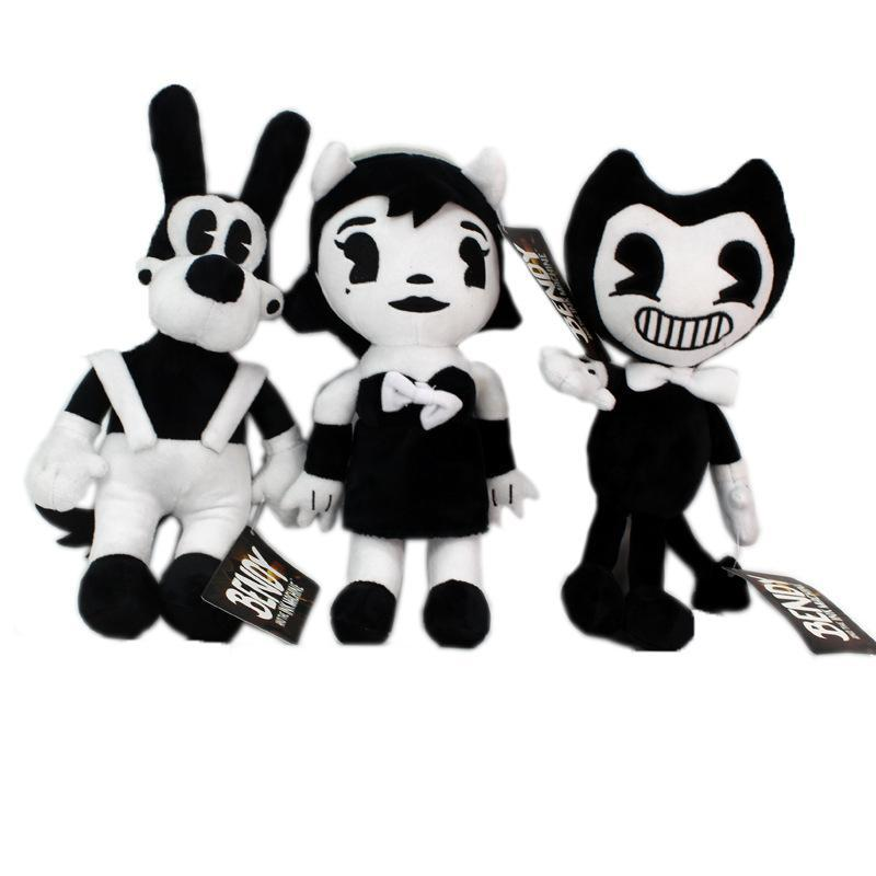 "New Game 3pcs/Lot 11.5"" 30cm Bendy & Dog Bendy and the Ink Machine Plush Doll Toys For Chidlren Best Christmas Gift"