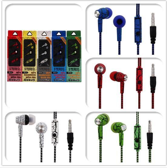 마이크 라인 제어 휴대 전화 헤드셋에 귀 무거운베이스 헤드폰 이어폰 균열 헤드폰 SF-A11 핫 판매 3.5mm의