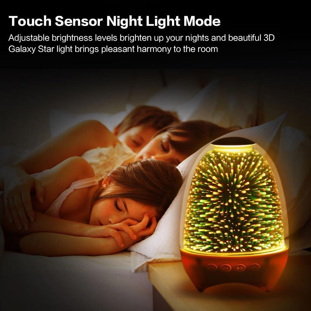 Colorful Usb Illuminato Bluetooth Speaker Luce Notte Comodino emotivo Atmosfera Light 1 Pc