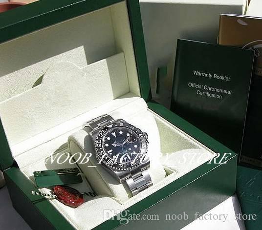 2019 Regalo di Natale Movimento automatico 40MM UOMO SS GMT-MAS TER II NERO CERAMICA # 116710 con orologio da sub con scatola originale