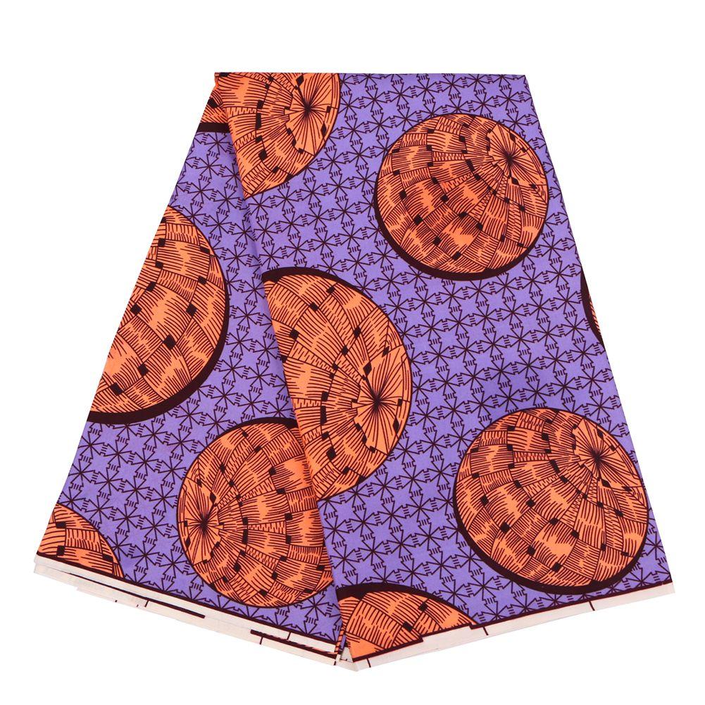 Анкара Полиэстер Wax печать Ткань Бинт Реального воск высокого качество 6 ярдов 2020 Африканская Ткани для платья партии FP6132