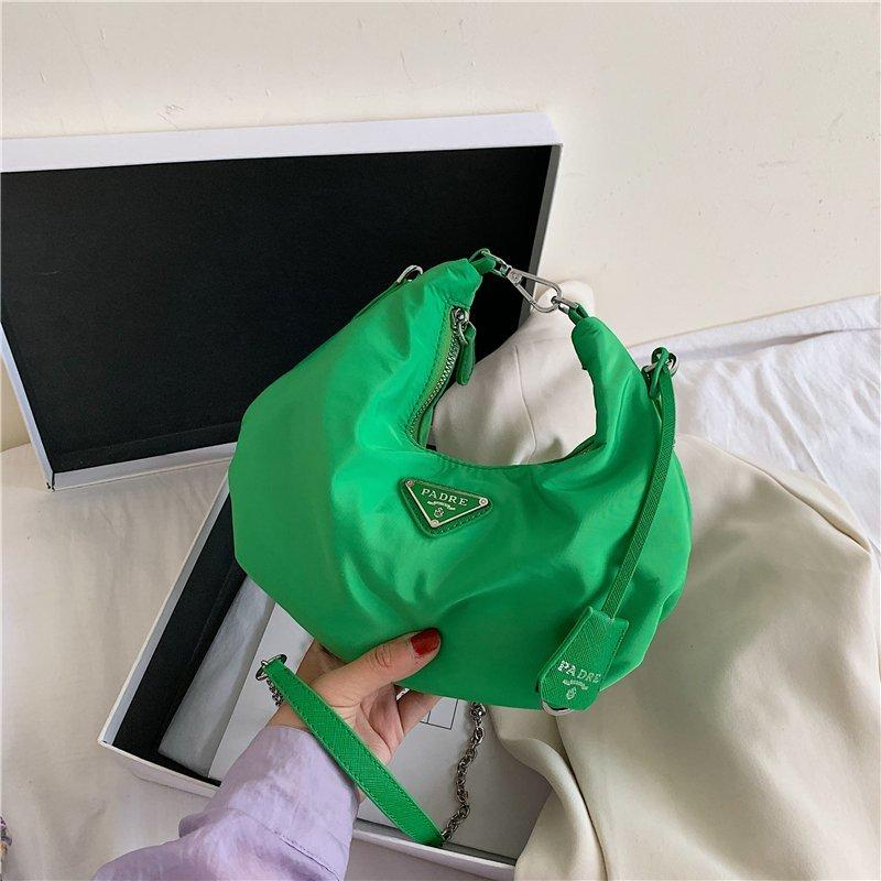 2020 bolsos de hombro de la cadena nuevas señoras del estilo de nylon bolsa de mensajero de las mujeres totalizador del cuero Bolsas 1hao / 7