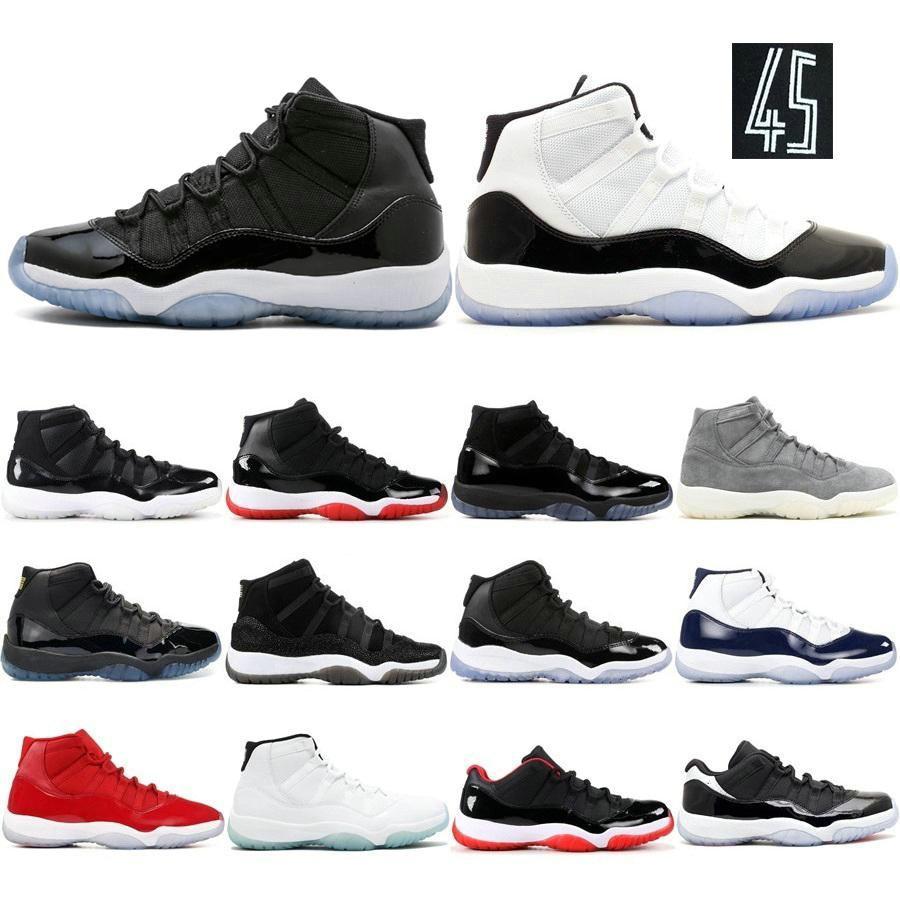 Ucuz Fiyat 2020 Serin Gri Basketbol Ayakkabı Spor Kırmızı Erkekler 11 Ayakkabı Kadınlar Eğitmenler Win gibi 82 Midnight Navy 72-10 İyi Kalite Concord