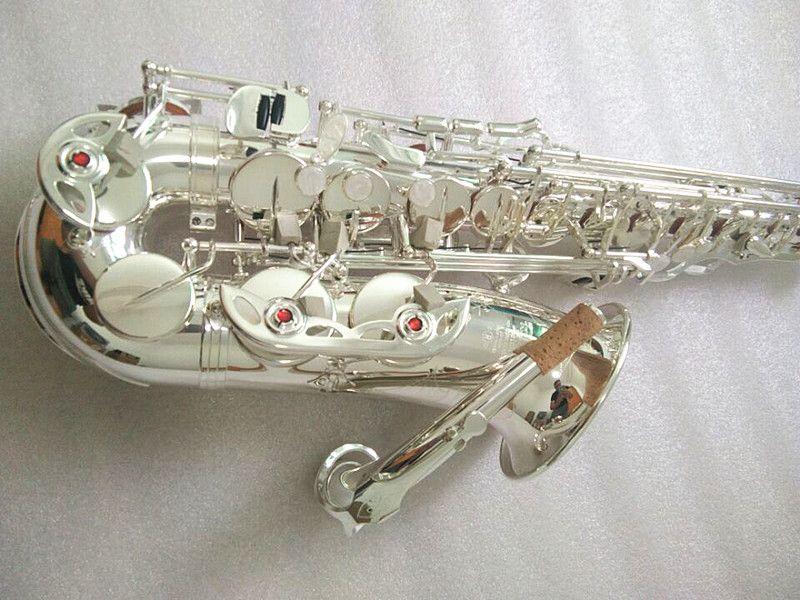ذات جودة عالية جديد MARK VI ألتو ساكسفون المتوسطة الفضة مطلي E شقة ألتو ساكس الآلات مع حالة