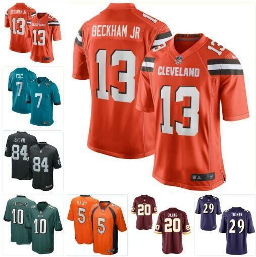 brand new e4984 55383 2019 Nick Foles Jersey Antonio Brown Odell Beckham Raiders Eagles Mark  Ingram Earl Thomas Joe Flacco Landon Collins Football Jerseys Color Rush  From ...