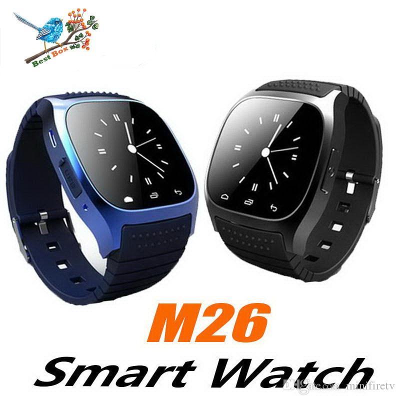 M26 montre intelligente montre-bracelet de sport montre-bracelet portable blurtooth sans fil pour téléphone mobile Android IOS avec boîte de vente au détail