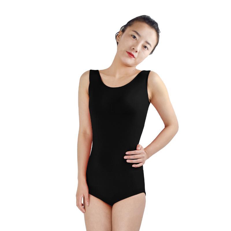 Ensnovo Women Ballet Costumes Yogo Gymnastics Leotard Adult Tank Top Backless Thong Sleeveless Lycra Ballet Wear Dance Tights