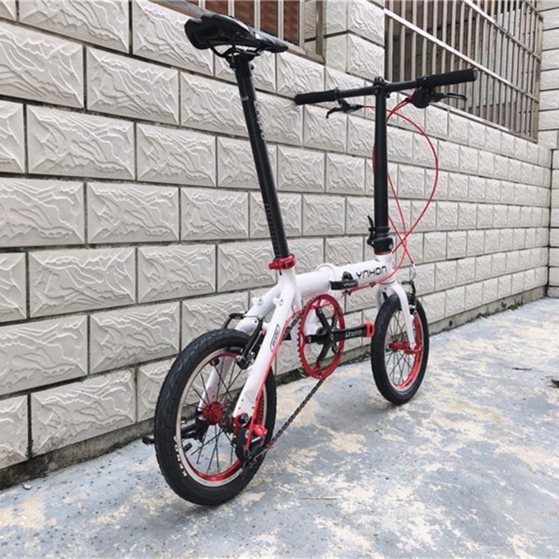 YNHON Faltrad Aluminun Alloy 412 14/16 Zoll-Single-Speed-Außen Drei-Gang-Kind-Kinder-Fahrrad-Mini Modification