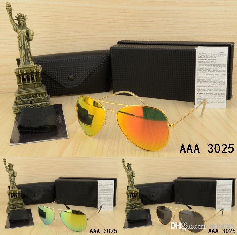 Стеклянные линзы бренд дизайн мужчины женщины солнцезащитные очки с коробкой очки металлическая лягушка зеркало квадрат классические старинные очки друзья подарки Oculos