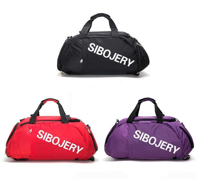 6715 Bölme # Ayakkabıları ile Kadın Erkek Spor Çanta Yoga Çanta Kadınlar Fitness Spor Çantası Sırt çantaları Taşınabilir Seyahat Bagaj Duffel Çanta Eğitim Çantası