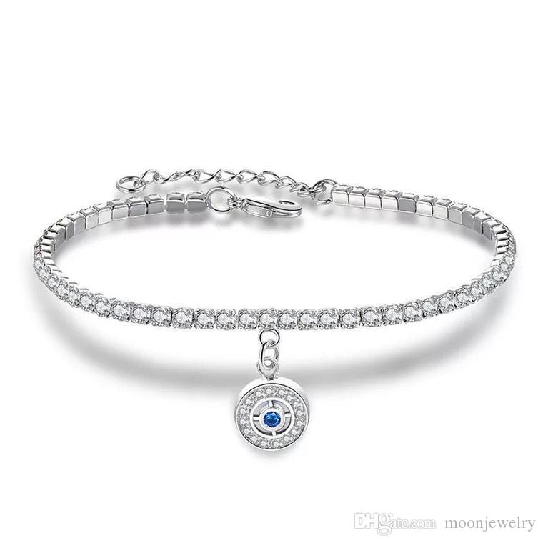 Hot Sale Crystal Wheel Heart Mitch Pandant Nice Llady Zirconia Bracelet For Girlfreind Gift
