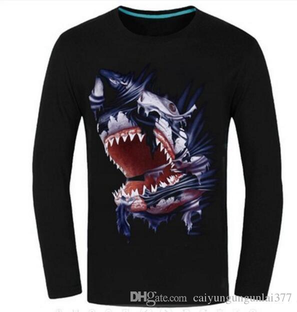 Sweatshirts 3D Design Long Sleeve T Shirts Men tiger head Print Casual Clothes Sweater Fashion sports Hip Hop Tops Women Autumn Spring