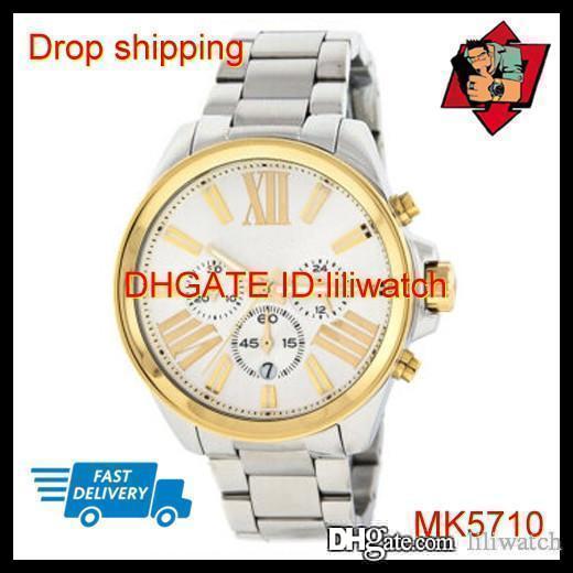 100% ORIGINAL JAPAN-BEWEGUNG DROP SHIPPING New MK5710 MK5711 MK5712 MK5837 MK5838 Wren Damen Gold-Chronograph Designer-Quarz-Uhr