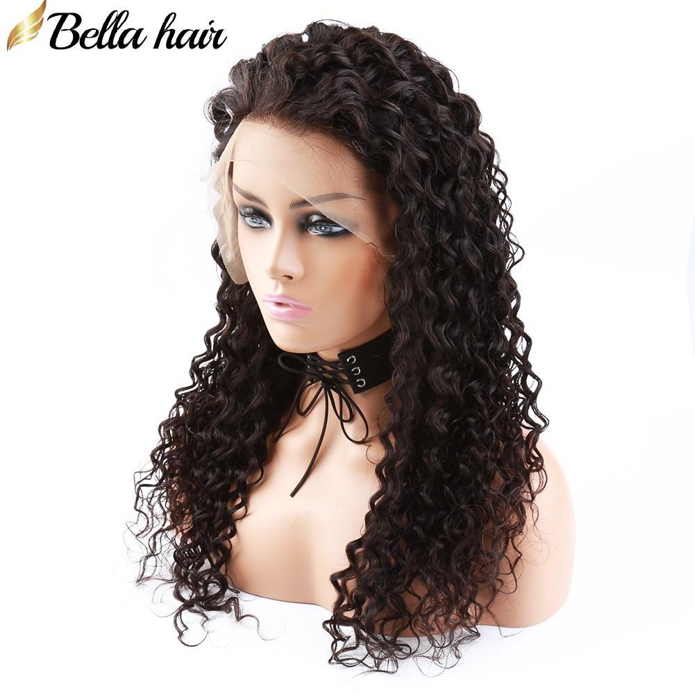 브라질 버진 헤어 레이스 프론트 가발 흑인 여성 곱슬 인간의 머리 가발 사전 뽑은 자연 색 대량 도매 벨라 쉐어