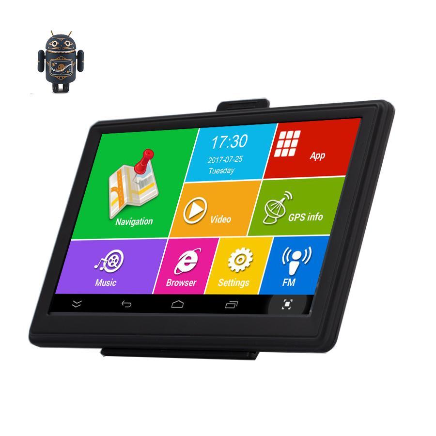 "7"" wifi Truck Navigation Android GPS para coche IPS capacitiva Bluetooth 8G / 512M AVIN vehículo localización precisa gratuito Navitel M"
