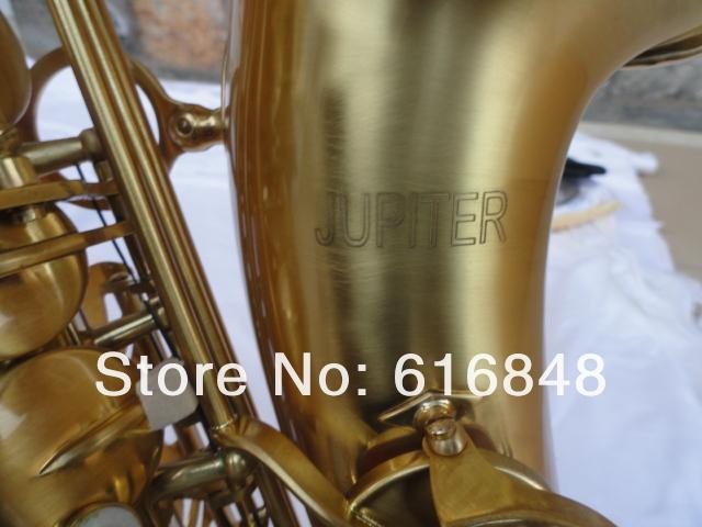 Nueva llegada JUPITER retro cepillado chapado en oro Saxofón Alto Mib Tune Instrumentos Musicales Perla Botones saxofón envío