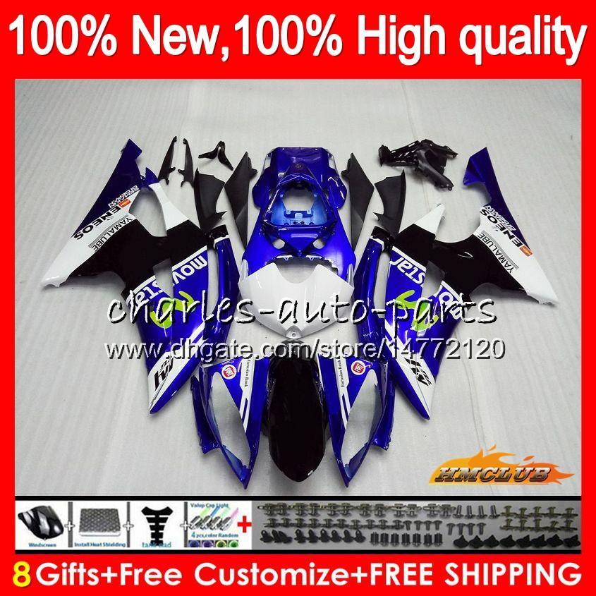 Lichaam voor Yamaha YZF600 YZF R6 YZF-R6 blauw wit Nieuw 2008 2016 68HC.15 YZF 600 R 6 CC 600CC YZF-600 YZFR6 08 09 10 11 12 13 14 15 16 Valvormen