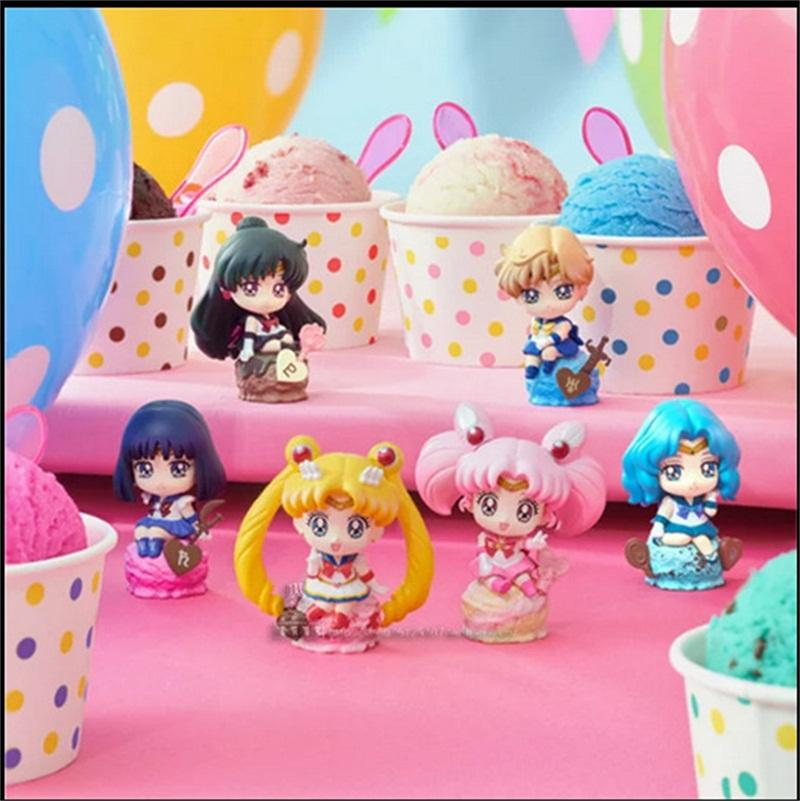 Mega House Sailor Moon Model Toy 20th Anniversary Ice Cream Candy Car Decoration Doll Lovely Small Exquisite 45dm I1