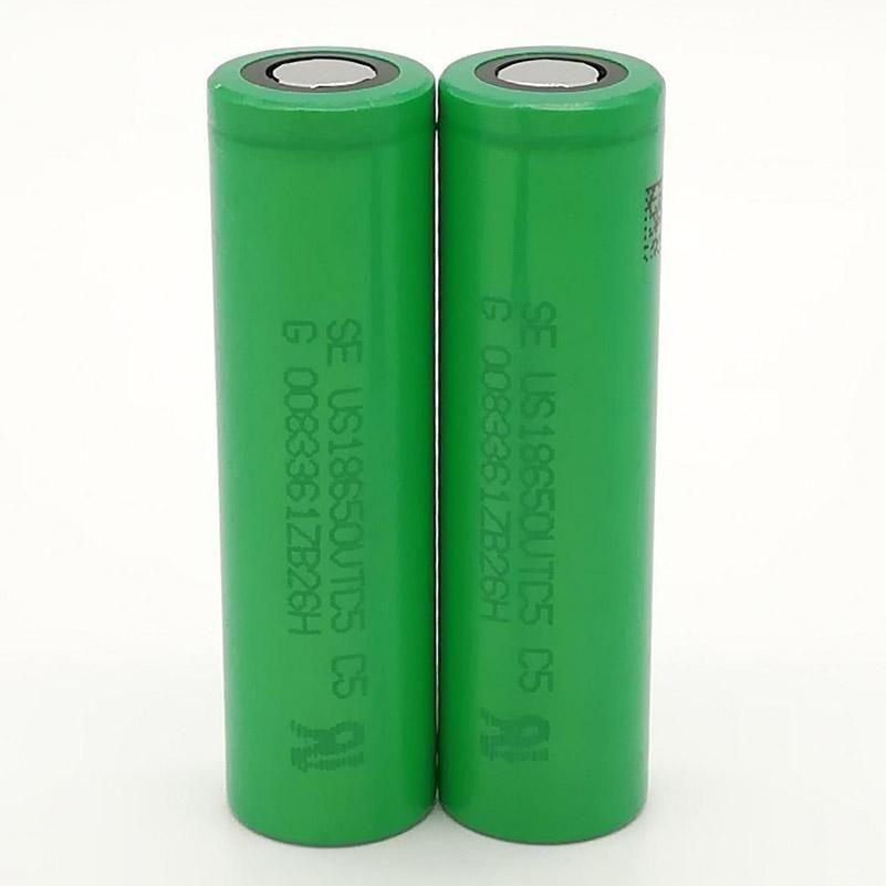 300pcs 100% de alta qualidade para SONY VTC5 18650 bateria 2600mAh IMR 3.7V para LG SONY Samsung recarregável de lítio Baterias celular