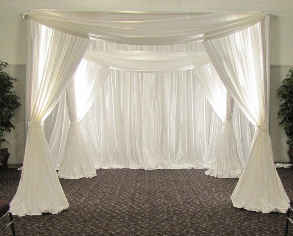 الفولاذ المقاوم للصدأ قابل للتعديل خلفية الزفاف من القدم مربع / مظلة / شوبه / أربور غطاء دعم