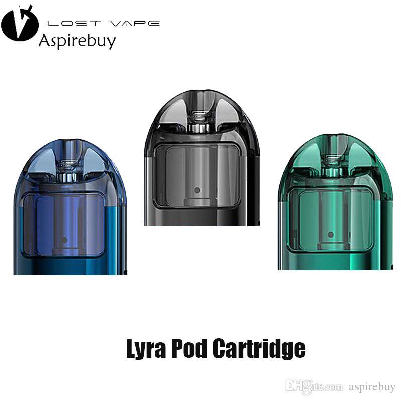 Original LostVape Lyra Pod Cigarro Eletrônico Vape 2 ml Perdido vape Lyra Pod Cartucho com Mesh MTL Bobina 100% Original