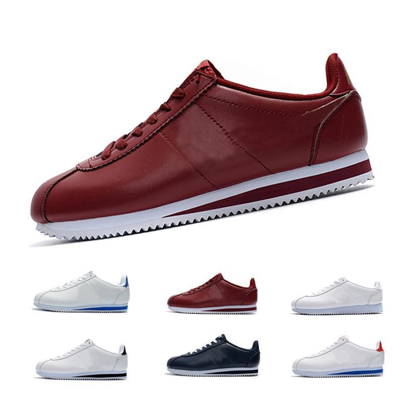 Классический Cortez базовая кожаная Повседневная обувь дешевые Модные мужские женские черный белый красный тренер скейтбординг кроссовки zapatillas hombre