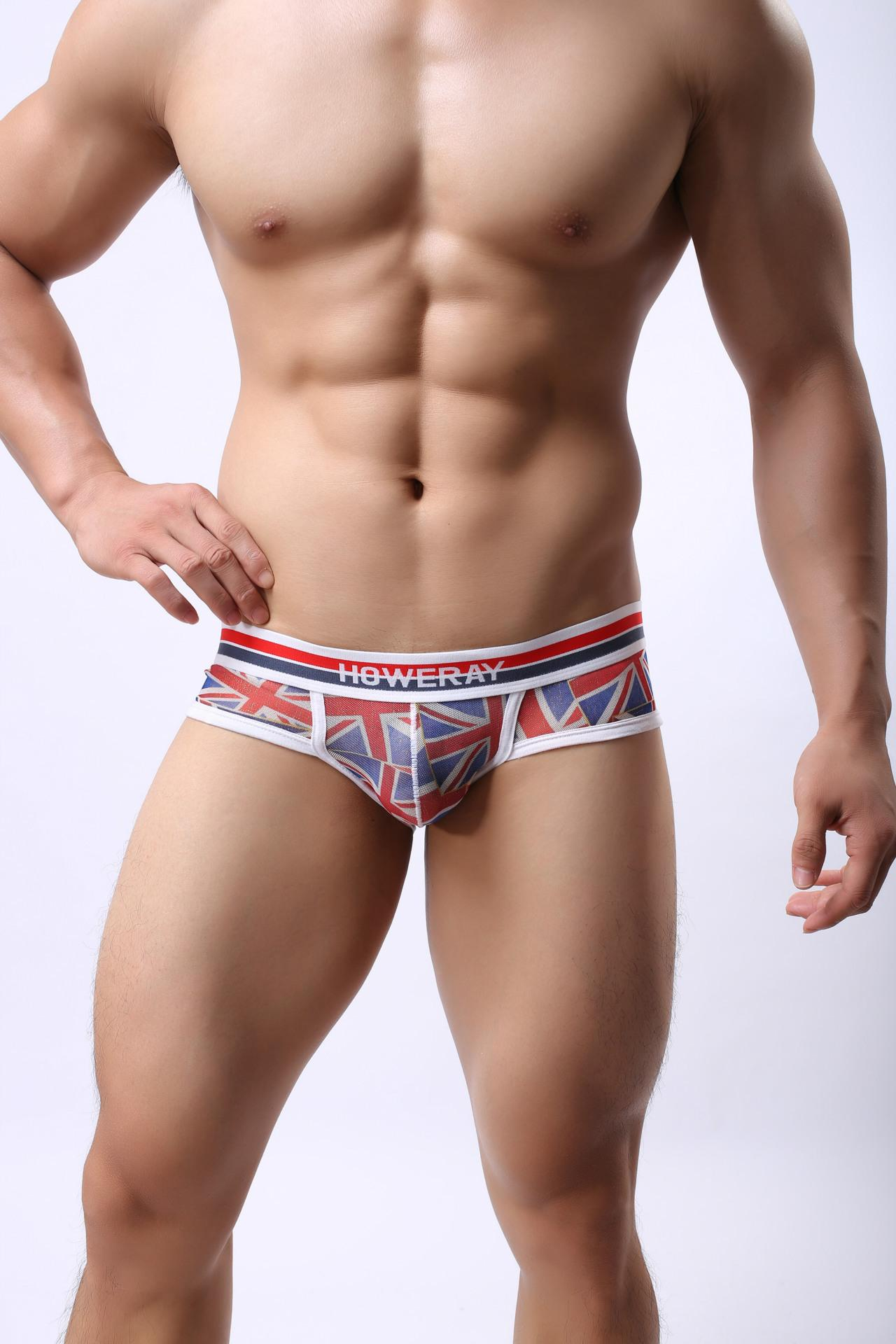 Nova marca Sexy homens translúcido Cueca Mens Briefs Respirável Elástico Masculino Low-cintura Biquíni Briefs Homens Corajoso Pessoa Tamanho MIX COR J190106
