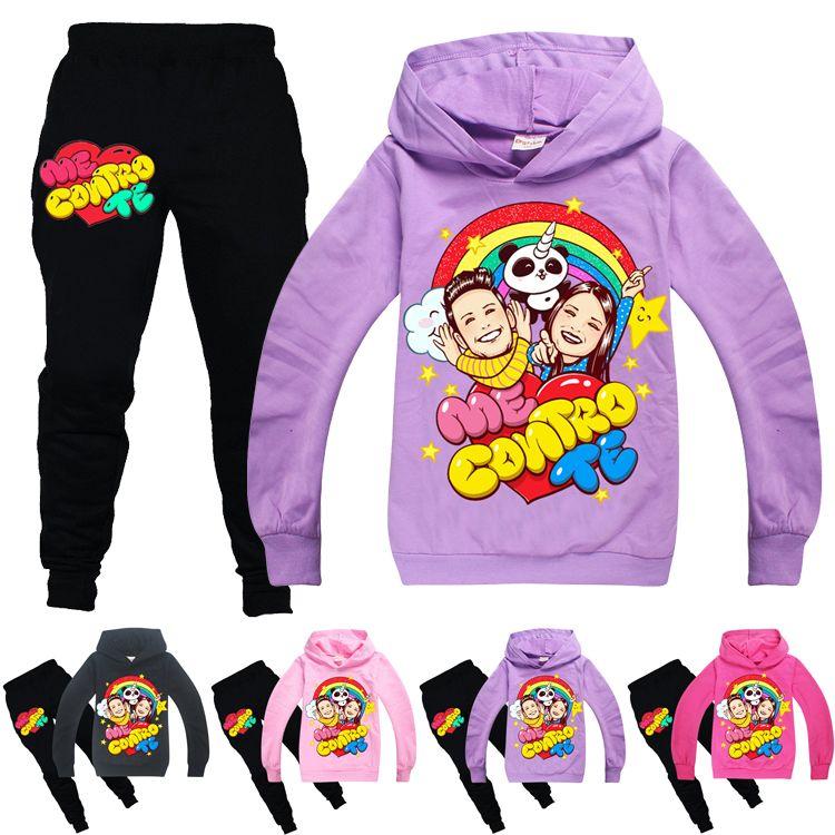 ME CONTRO TE Roupa Define Primavera e Outono 6-14t crianças Hoodies + calças 2 conjuntos de peças crianças 120-160cm MSS385 roupas de grife meninas Atacado