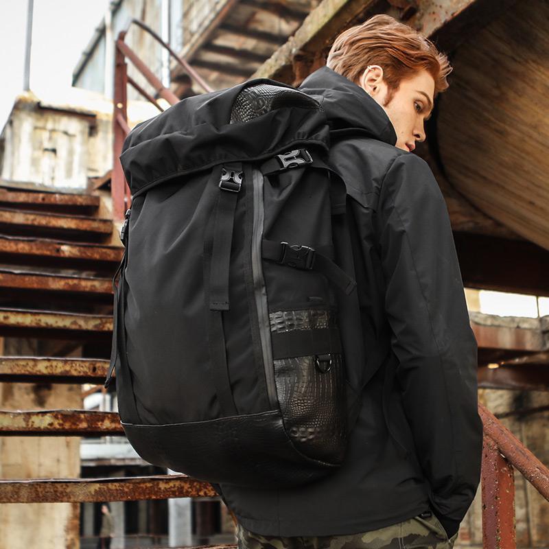 resistente all'usura onere grande sacchetto di alpinismo capienza sacchetto dell'allievo nuovo zaino da viaggio outdoorMX190903 svago degli uomini zaino