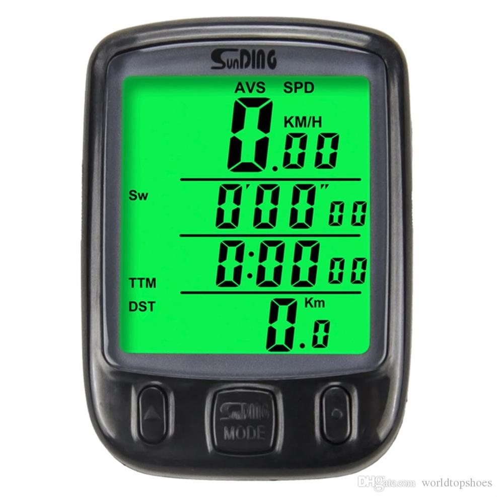 SUNDING Bike Computer Speedometer Wireless Waterproof Bicycle Odometer Cycle Computer Multi-Function LCD Back-Light Display #334690