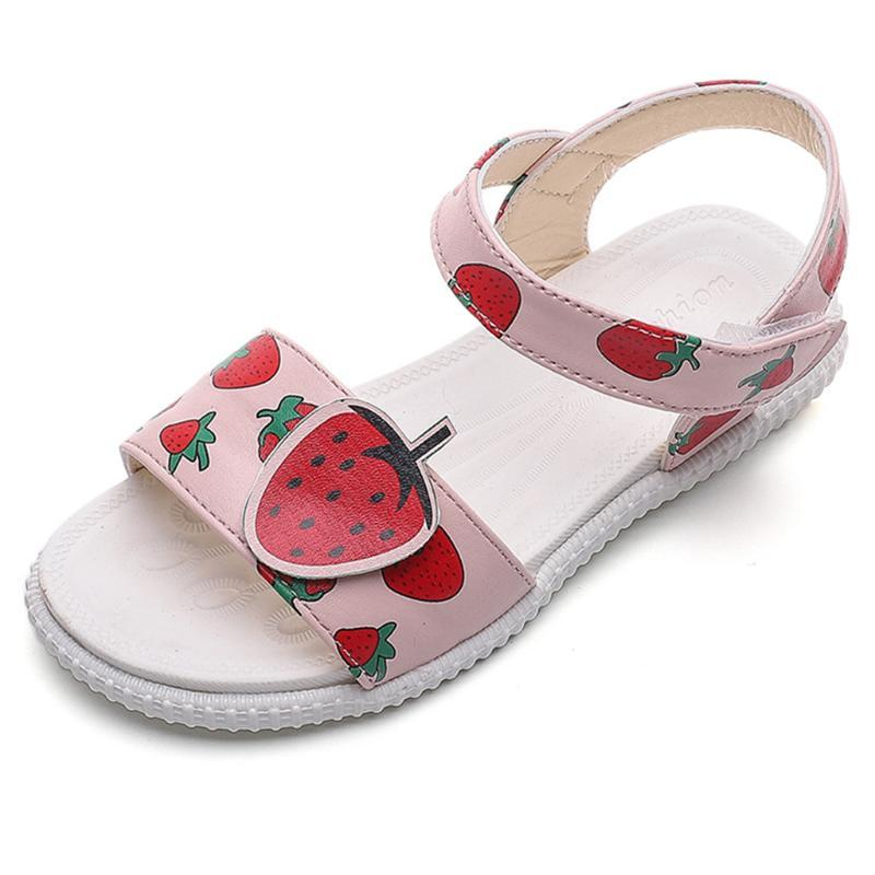 SAGACE Baby Girl Sandals Cute Fruit Print Summer Shoes Toddler Kids Girls Soft Bottom Sandals Beach Shoes New Arrivals