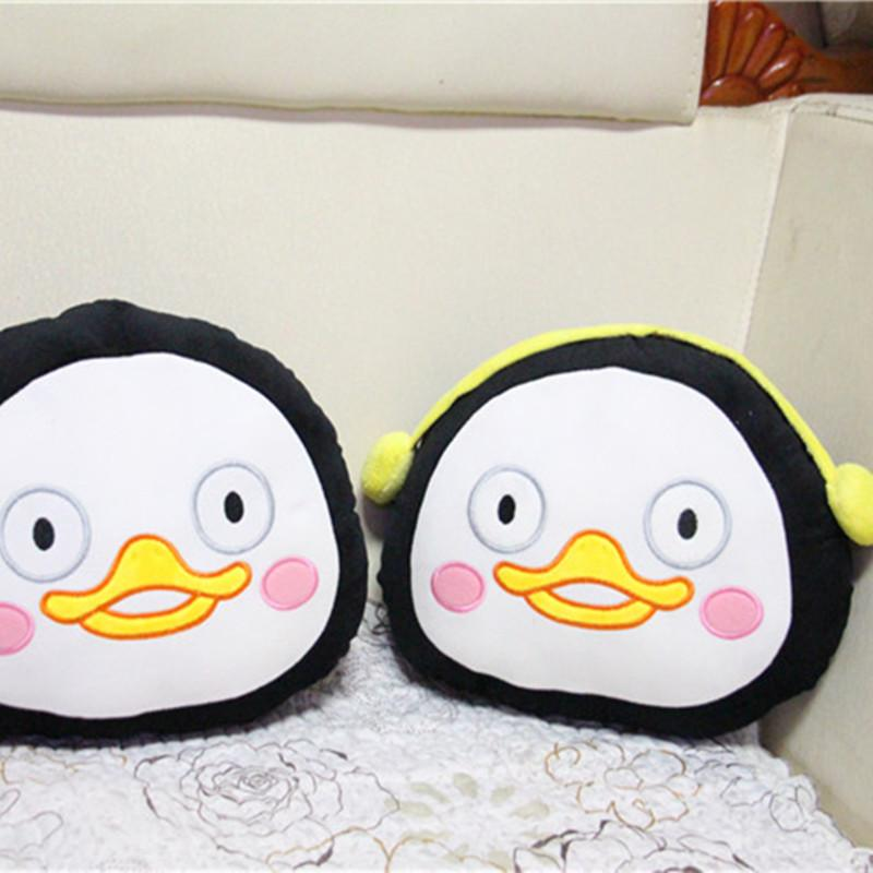 Korea Cute Penguin Plush Pillows Kpop Pengsoo Cushions Kawaii Stuffing Animals Funny Toys for Children Girls Gift