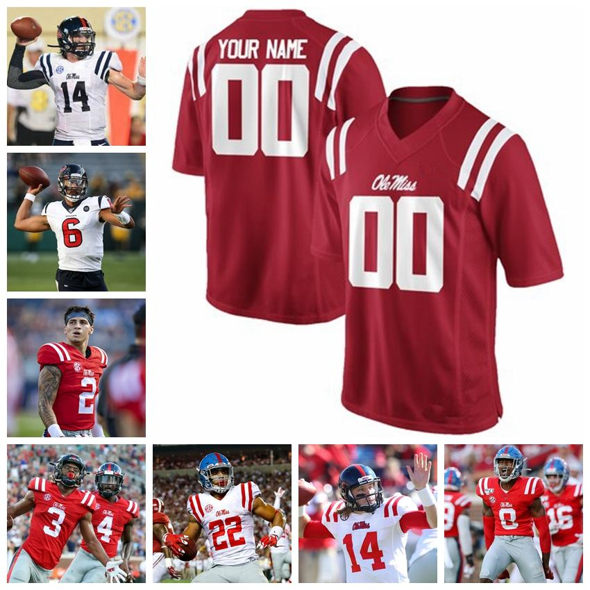 Ole Miss Rebels Trikots DK Metcalf Jersey Scottie Phillips Isaiah Woullard Laquon Treadwell Kelly College Football Jerseys Individuelle genähtes