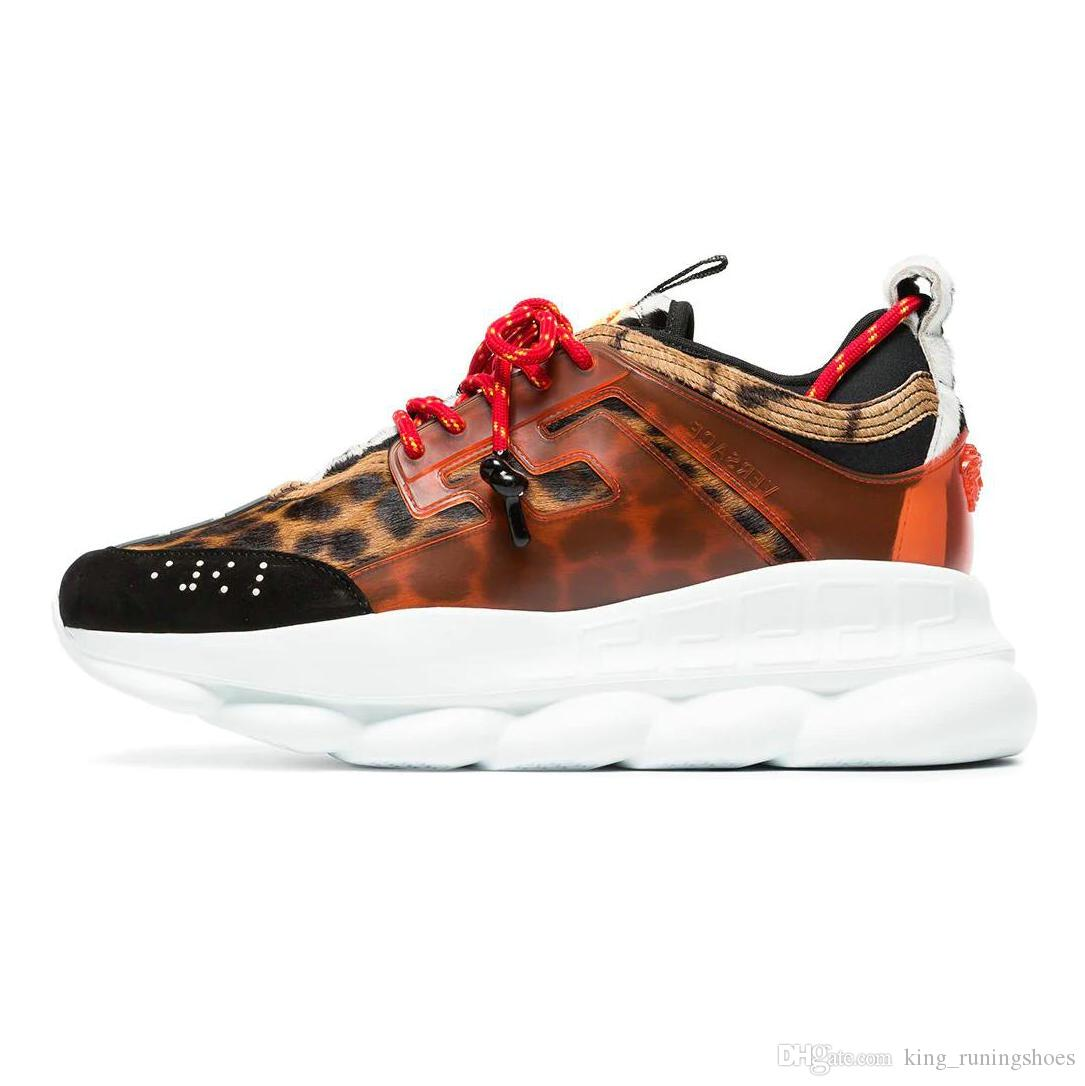 Scarpe Sneakers 2019 Versace Shoes Marca Reazione A Catena Di Alta Qualità  Moda Di Lusso Sneaker Designer Donna Mens Scarpe Da Ginnastica Casual ...
