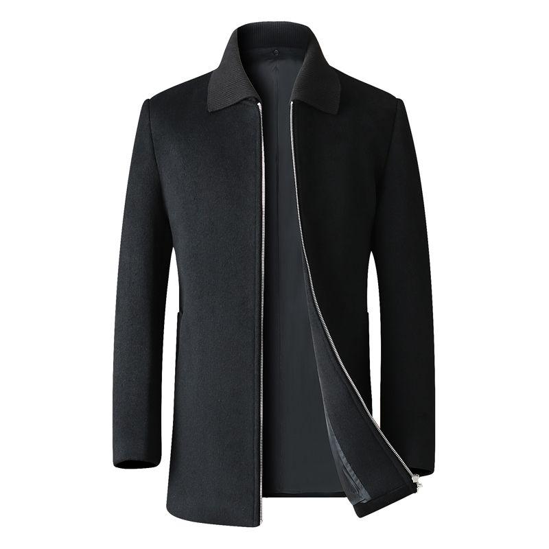 Размер нового Plus 8XL 7XL 6XL высокого качества осень и зима мода бизнес случайного Слим шерсть пальто / Мужской длинный нагрудных шерстей пальто