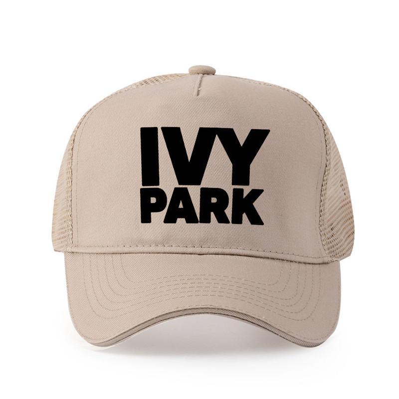 جودة عالية من القطن الخالص الرجال IVY PARK مطبوعة قبعة بيسبول أزياء نمط غطاء النساء