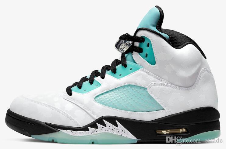 New Trophy Room х 5s Ice Blue Red Мужчины JSP Баскетбол обувь 5 Ice Blue JSP Спортивные кроссовки высокого качества с коробкой