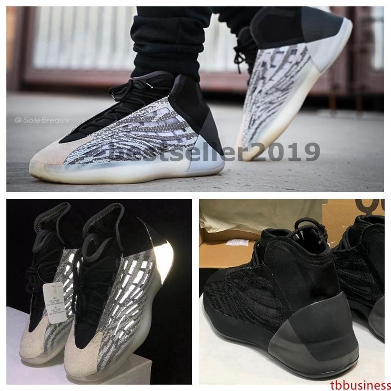Yeni Basketbol Kuantum EG1535 Kanye West Ayakkabı Siyah 3M Zebra Statik Yansıtıcı Yüksek Kalite Mens 2020 Tasarımcı Sneakers Kadın Zapatillas