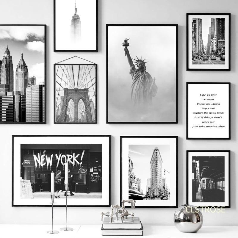 Estados Unidos New York Iconic Edifício Nordic estilo moderno Posters Canvas Pictures For Living Room decorativa Pintura Unframed