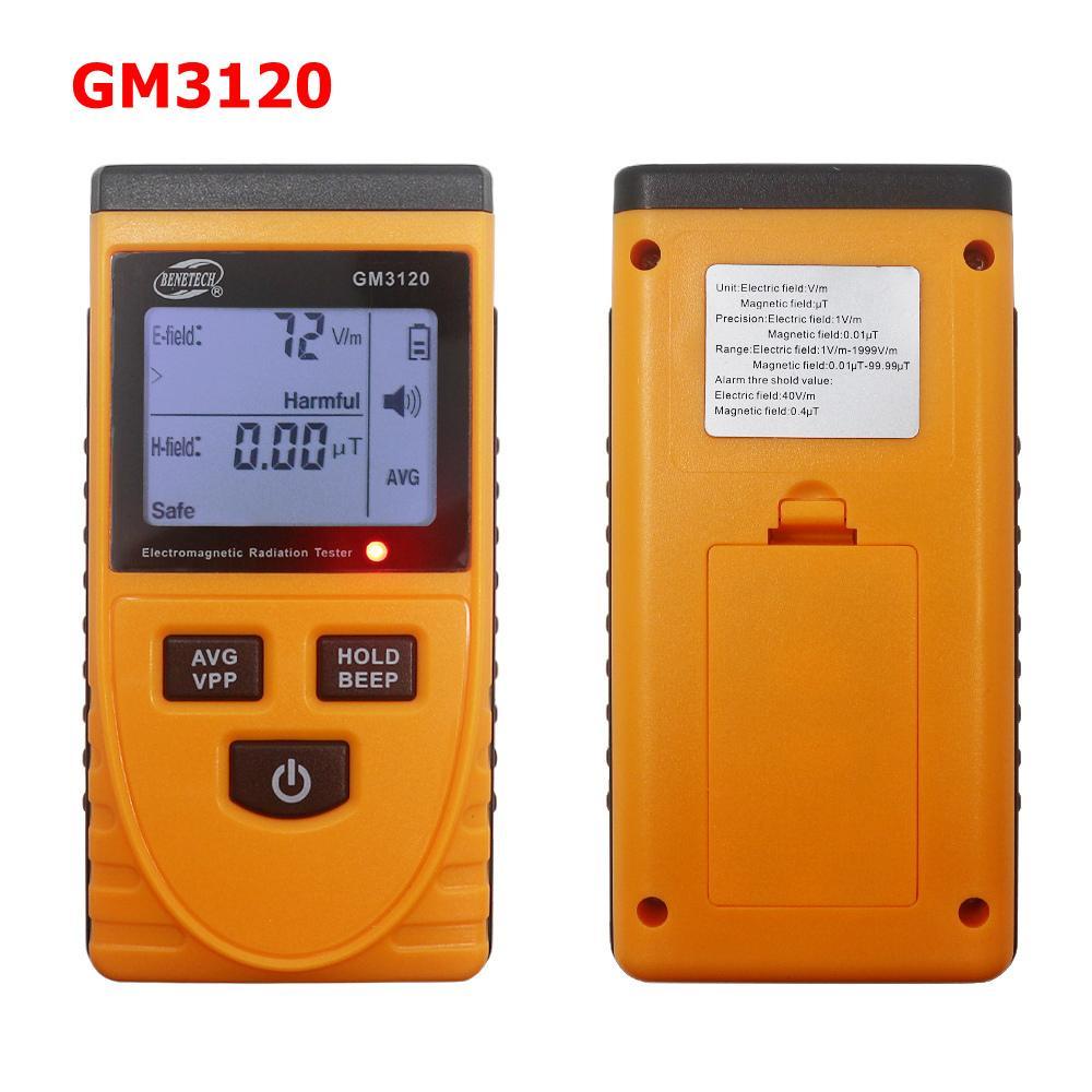 Lcd radiazioni dosimetro contatore palmare digitale campo elettromagnetico tester di radiazione del rivelatore contatore per campo magnetico Gm3120 T8190619