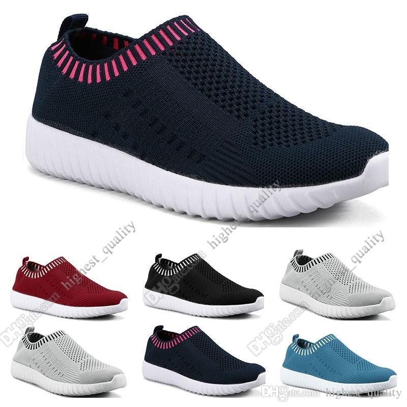 sapatos a melhor venda mulheres de grande porte voando as sapatilhas das mulheres um pé respirável sapatos leves esportivos casuais tênis Onze