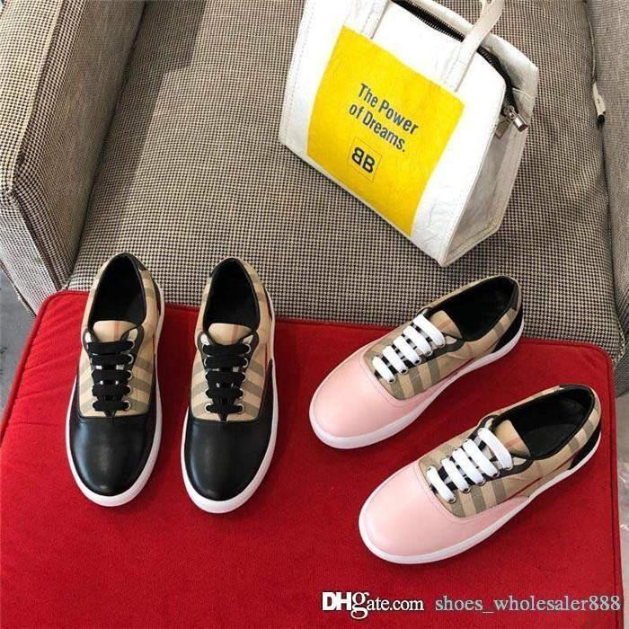 O couro clássico da moda últimas senhoras sapatos casuais com o desgaste de malha listrado - resistentes sapatilhas ocasionais borracha planas