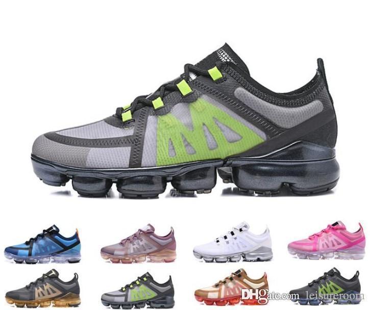 nike vapormax Kutu ile 2019 Yeni Spor Ayakkabı Vap Ayakkabı Bayanlar rahat Ayakkabılar rahat Pratik Moda Erkekler Ve Kadınlar Sneaker ...
