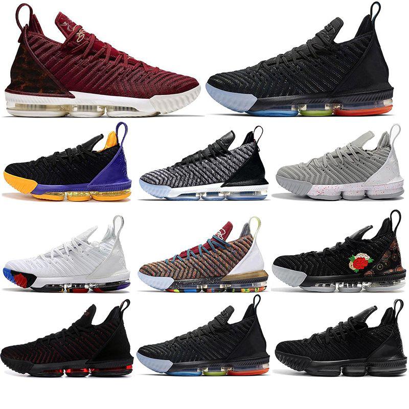 Com Sock Venda LeBron james Sapatos 16 16s tênis de basquete Homens 1 Thru 5 Tribunal Martin roxo criados formadores exteriores tênis esportes 40-46