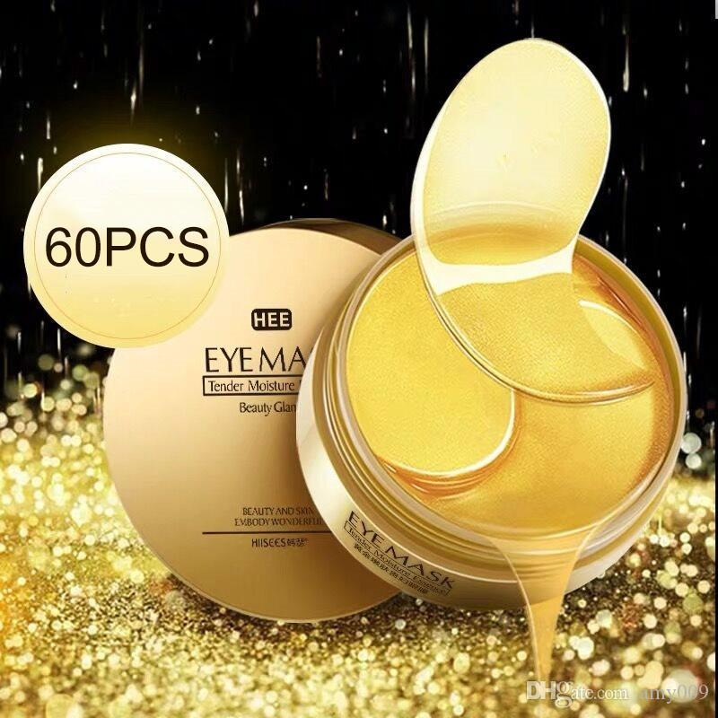 DHL 20pcs NEW HIISEES 30pair Gold Collagen Eye Mask Remove Dark Circles Whitening Firming Sleep Mask Moisturizing Eye Patches Skin Care