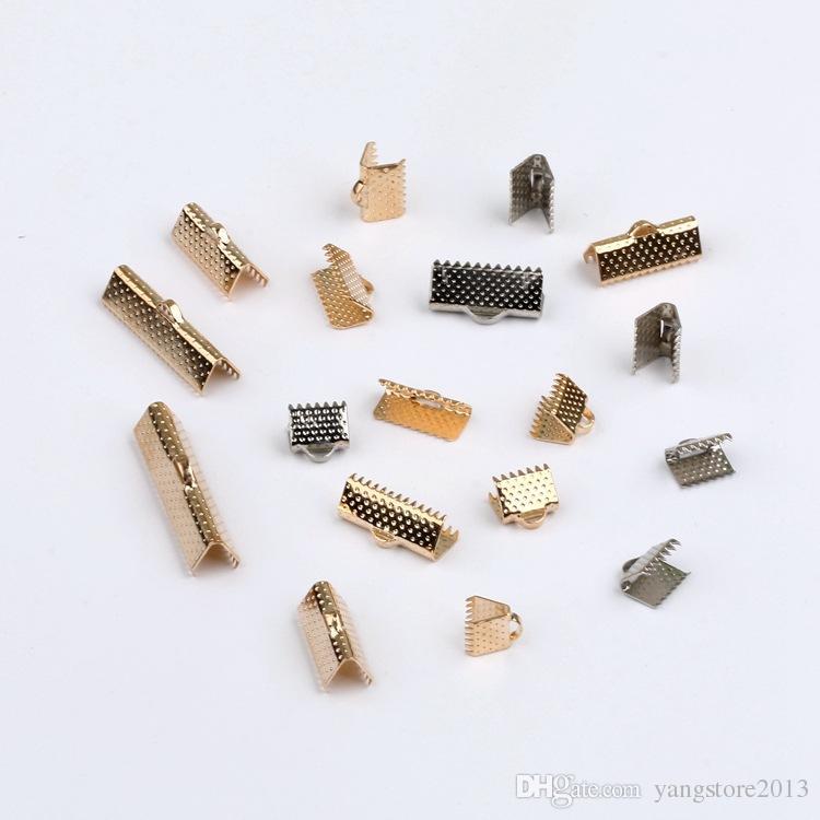 送料無料200ピース、6-30mmシルバー/ゴールドメッキクリップリボンクランプコネクタリボンクリンプ用DIYブレスレットジュエリー作り検索結果H7812